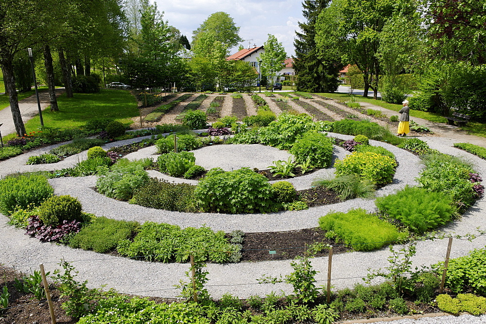 Herbal park, herbal expreience centre, Bad Heilbrunn, Loisachtal, Upper Bavaria, Bavaria, Germany, Europe