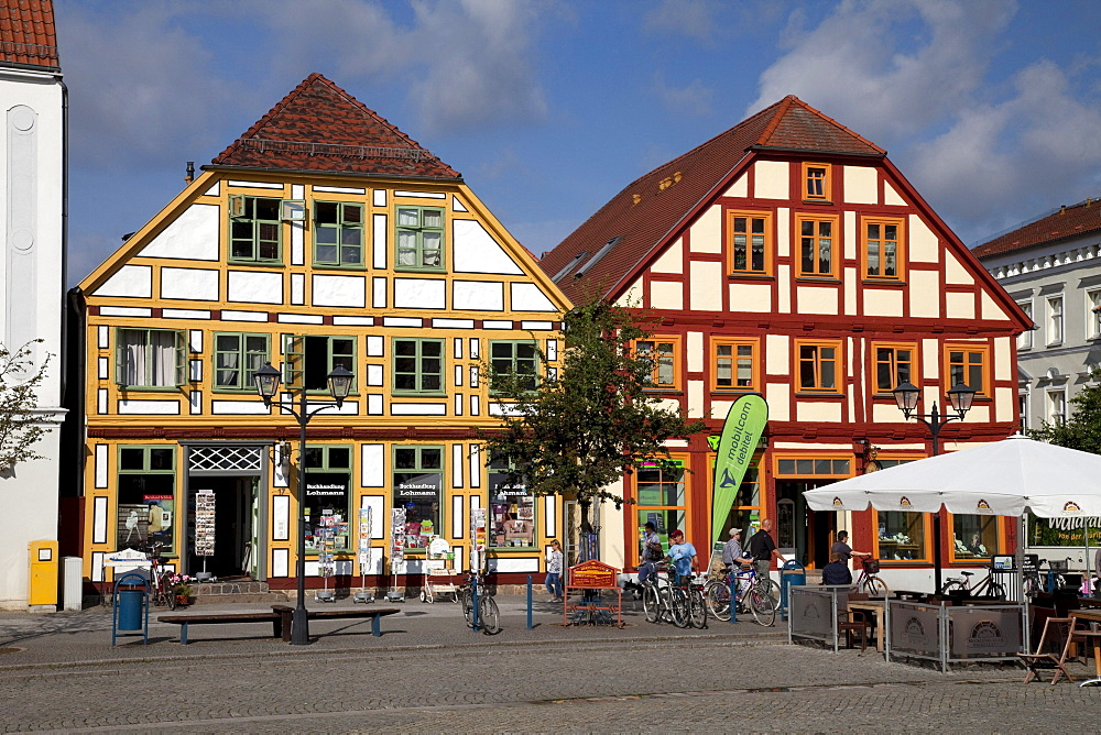 New Market, climatic health-resort of Waren on Lake Mueritz, Mecklenburg Lake District, Mecklenburg-Western Pomerania, Germany, Europe