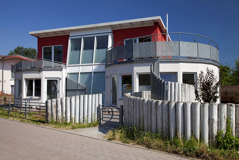 Klanggalerie sound gallery, Baltic Sea resort town of Ahrenshoop, Fischland, Mecklenburg-Western Pomerania, Germany, Europe