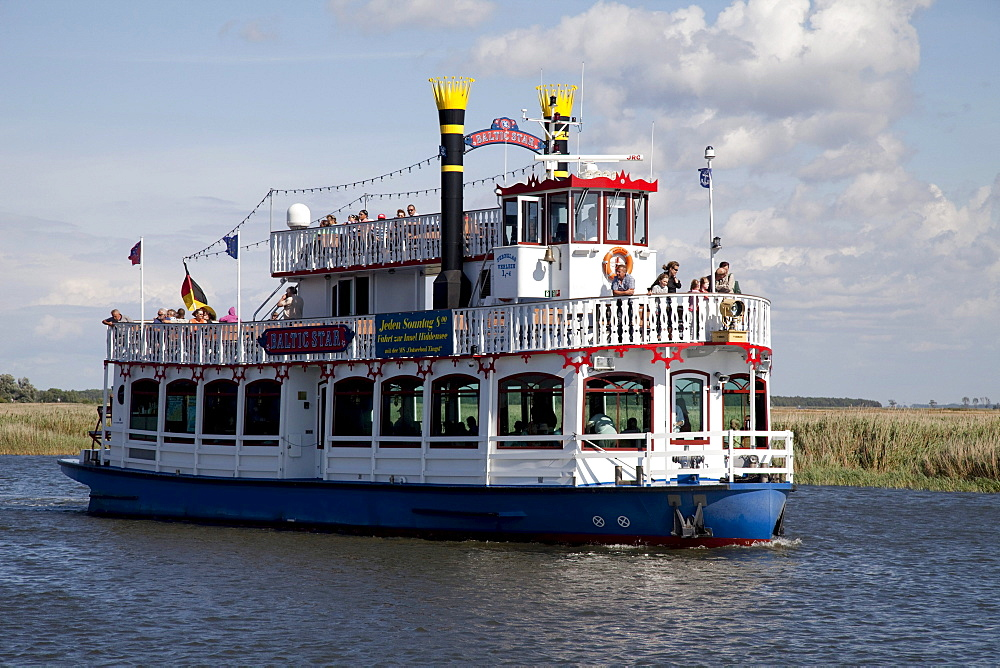 Paddle steamer Balticstar, Bodden tour, Baltic Sea spa of Zingst, Fischland Darss Zingst peninsula, Mecklenburg-Western Pomerania, Germany, Europe