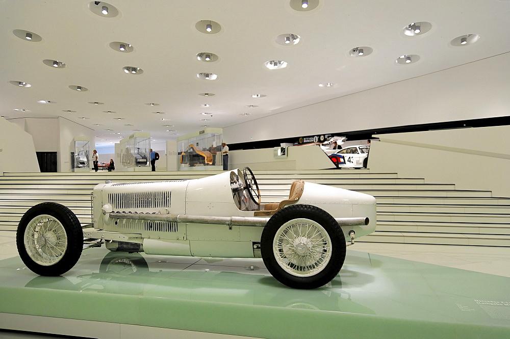 Mercedes 2-liter Monza racing car, on loan, Porsche Museum, Stuttgart, Baden-Wuerttemberg, Germany, Europe