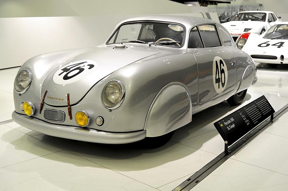 Porsche 356 SL Coupe, built in 1950, Porsche Museum, Stuttgart, Baden-Wuerttemberg, Germany, Europe