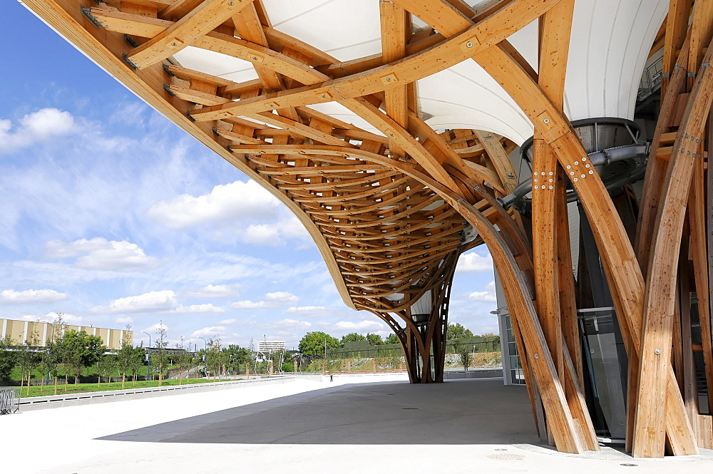 Detail view, Centre Pompidou-Metz, Metz, Lorraine, France, Europe