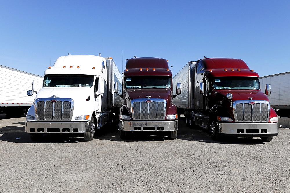 American trucks, Route 66, near Seligman, Arizona, USA, North America