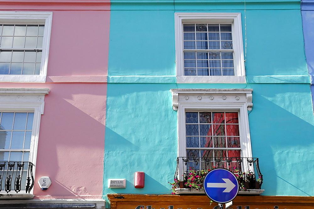 Facade, Portobello Road, London, England, United Kingdom, Europe