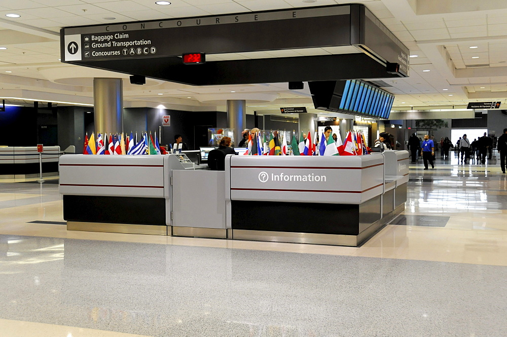 Information desk, Hartsfield-Jackson Atlanta International Airport, Atlanta Airport, Atlanta, USA, North America
