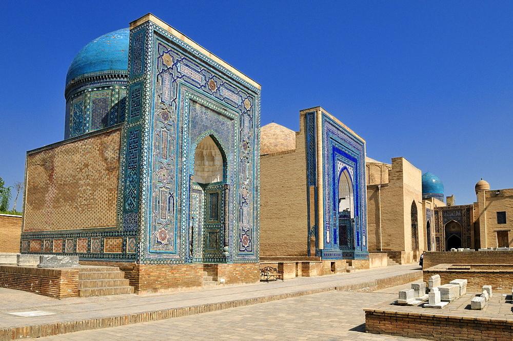 Shah-i-Zinda, Shahizinda Necropolis, Samarkand, Silk Road, Uzbekistan, Central Asia