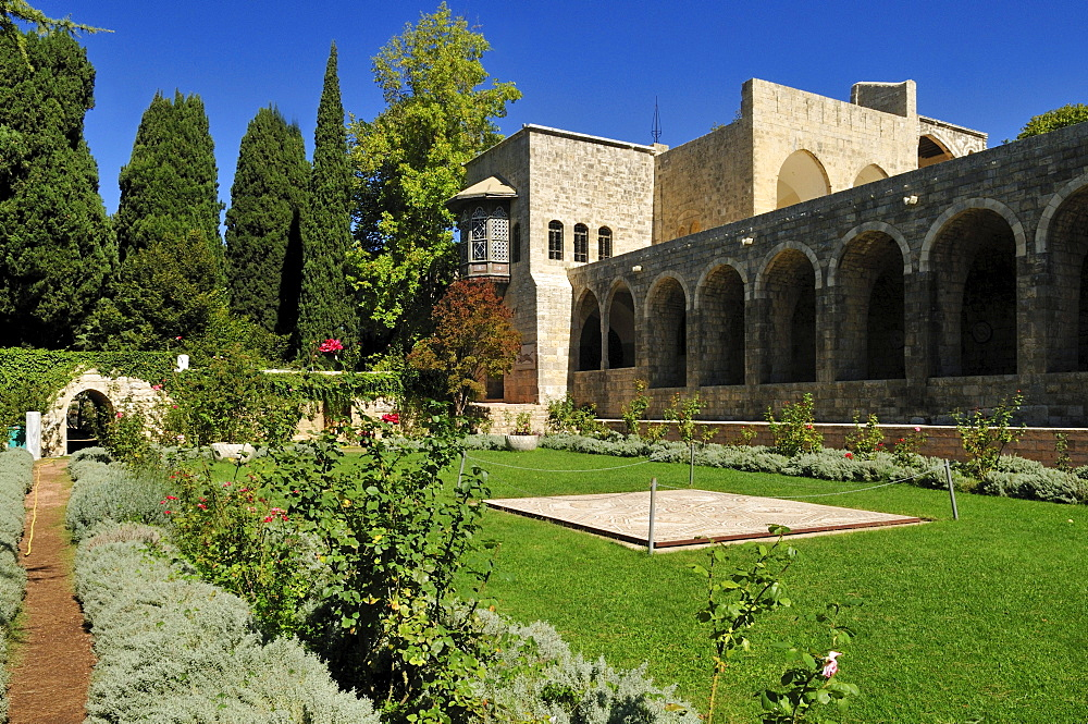 Garden of Beit ed-Dine, Beiteddine Palace of Emir Bashir, Chouf, Lebanon, Middle East, West Asia