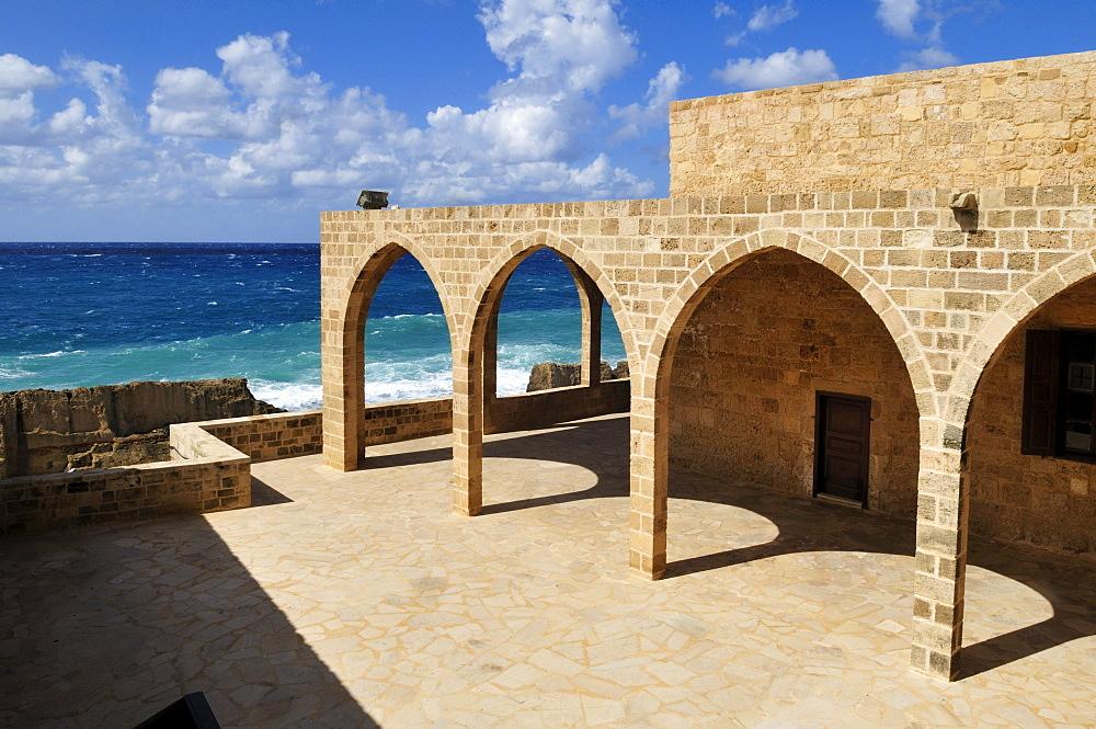 Maronite church at the mediterranean coast, Batroun, Lebanon, Middle East, West Asia