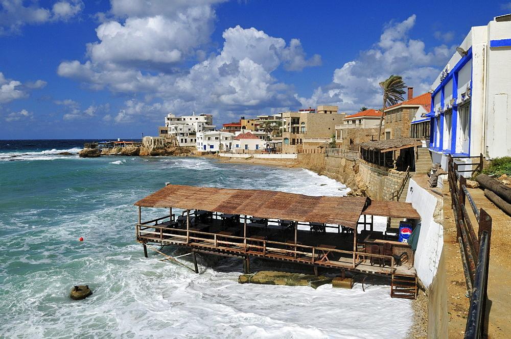 Mediterranean coast at Batroun, Lebanon, Middle East, West Asia