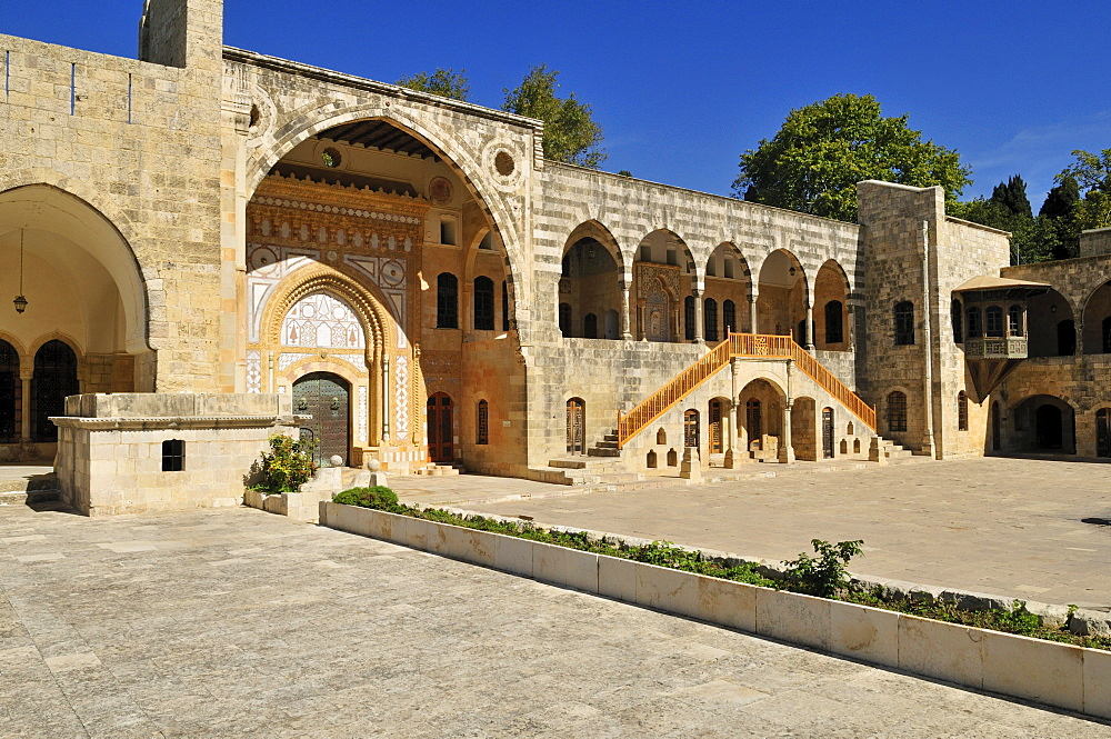 Patio of historic Beit ed-Dine, Beiteddine Palace of Emir Bashir, Chouf, Lebanon, Middle East, West Asia