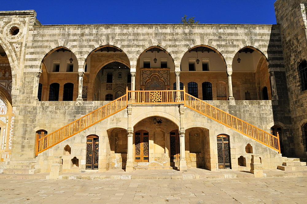 Historic Beit ed-Dine, Beiteddine Palace of Emir Bashir, Chouf, Lebanon, Middle east, West Asia