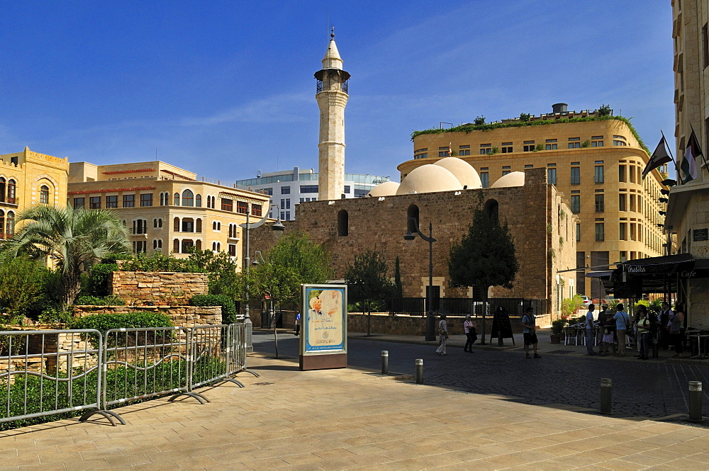 Al Omari mosque in the historic center of Beirut, Beyrouth, Lebanon, Middle East, West Asia