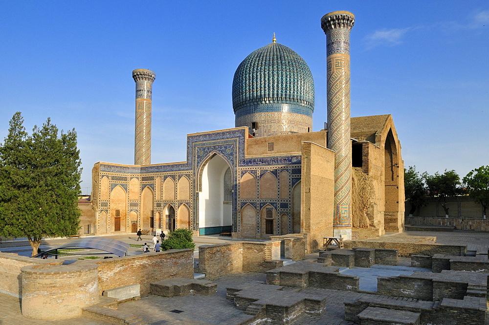 Gur Emir, Gur-Amir, Guri Amir mausoleum, tomb of Timur, Temur, Tamerlane, Samarkand, Silk Road, Uzbekistan, Central Asia