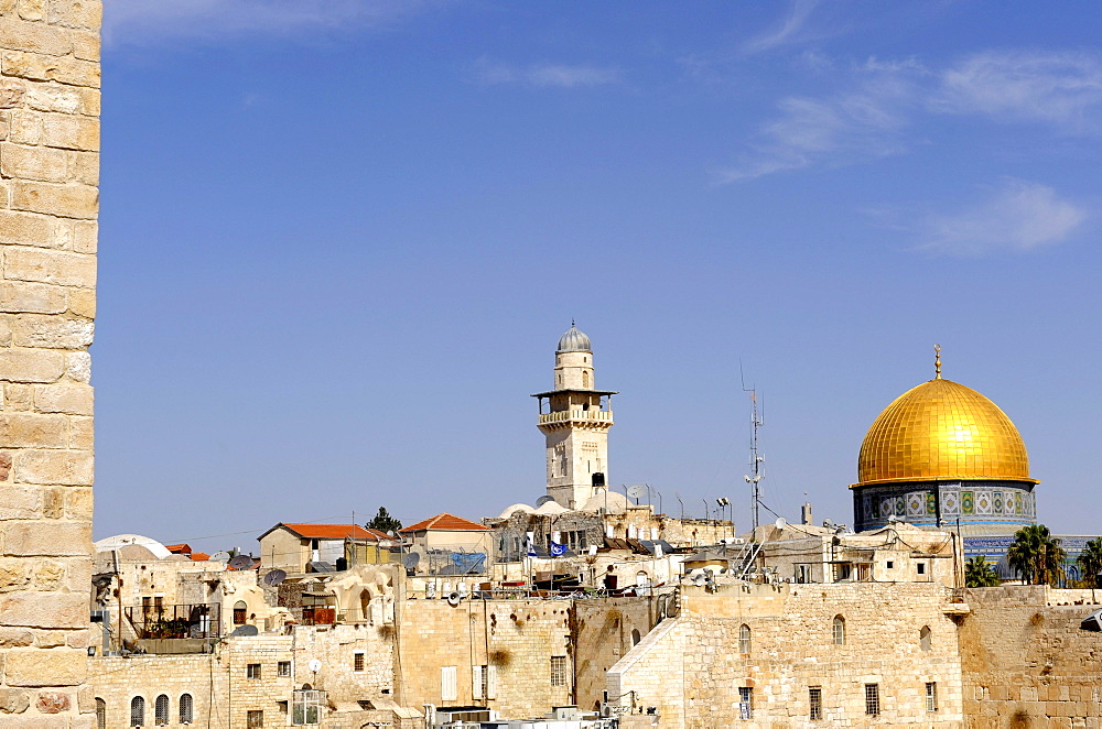 Old town with Temple Mount and Dome of the Rock, Jerusalem, Israel, Middle East, Southwest Asia