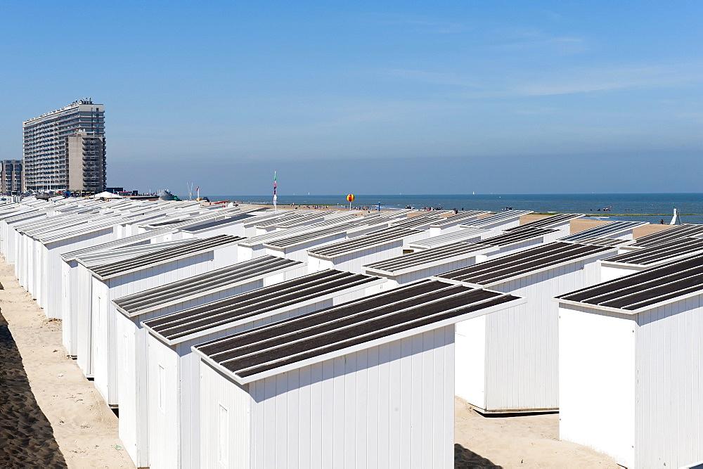 Beach cabins, Ostend, Belgium, Europa