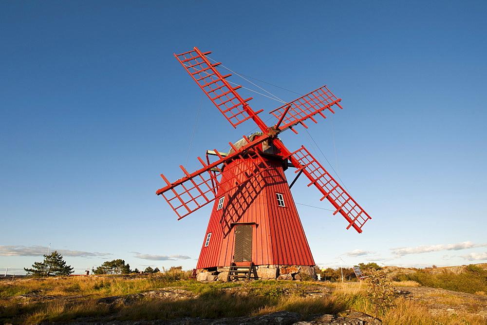 Windmill, Molloesund, Vaestra Goetaland County, Sweden, Europe