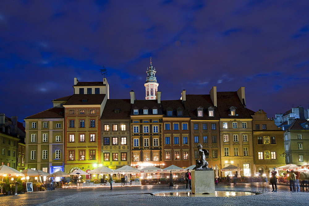 Rynek Starego Miasta, historic town centre, Warsaw, Mazowieckie, Poland, Europe