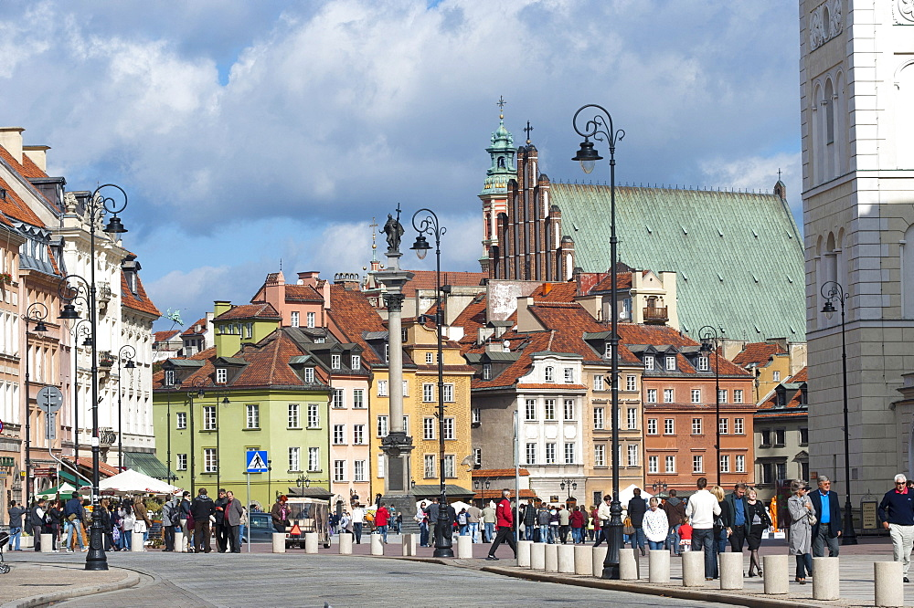 Castle Square, Warsaw, Masovia province, Poland, Europe