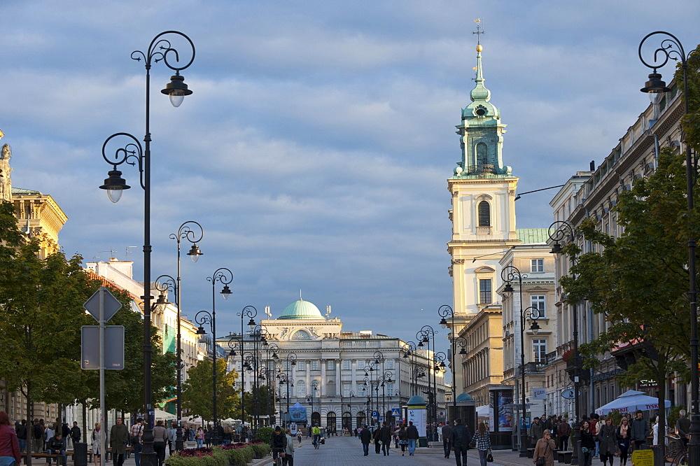 Holy Cross Church on Krakowskie Przedmiescie street, Warsaw, Masovia province, Poland, Europe