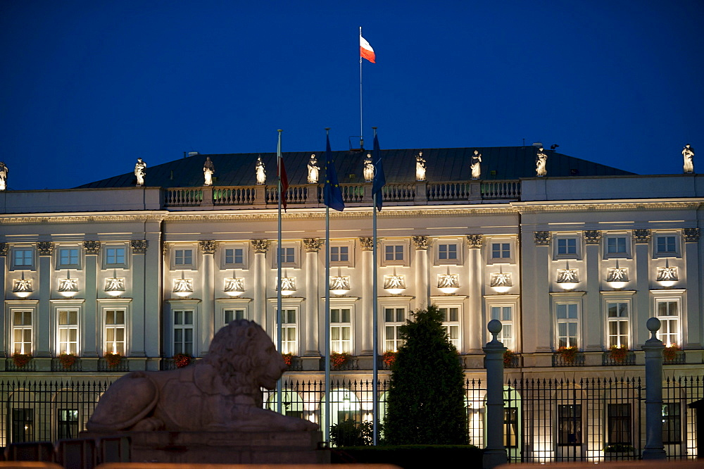 Presidential Palace, Warsaw, Masovia province, Poland, Europe