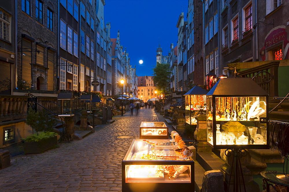 Mariacka Street, Ulica Mariacka, Gdansk, Pomerania, Poland, Europe