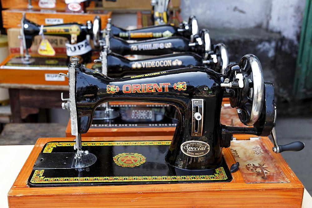 Manually operated sewing machines, Haldwani, Uttarakhand region, northern India, India, Asia
