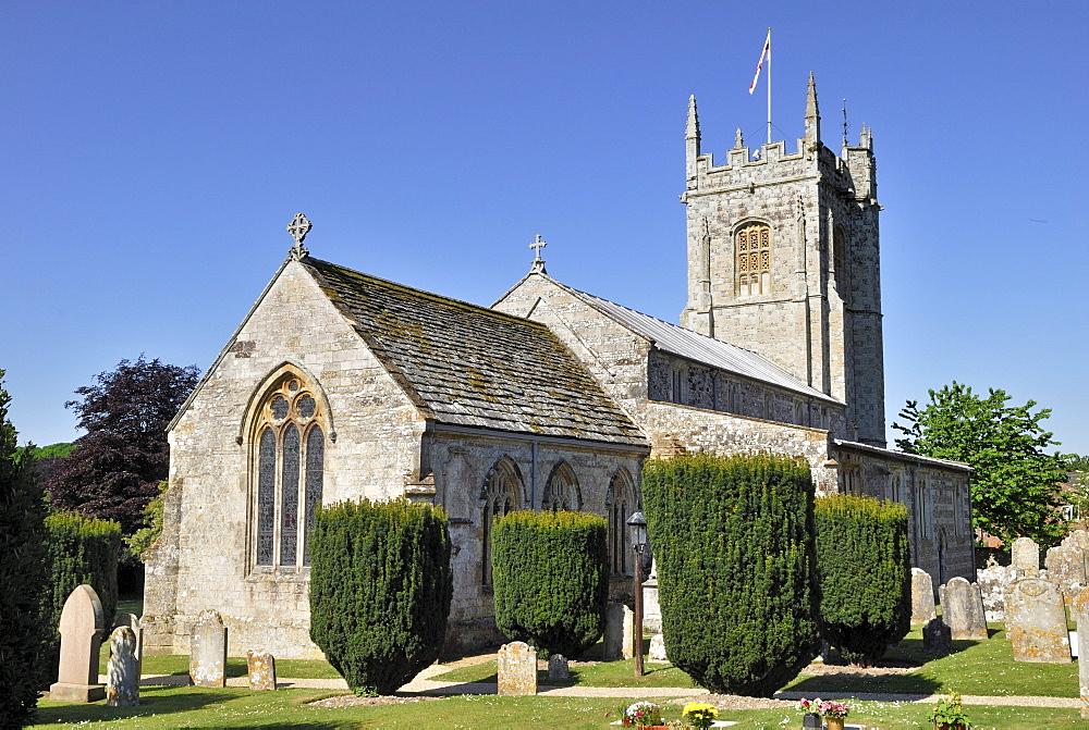 Church of St. John the Baptist, Bere Regis, Dorset, southern England, England, United Kingdom, Europe
