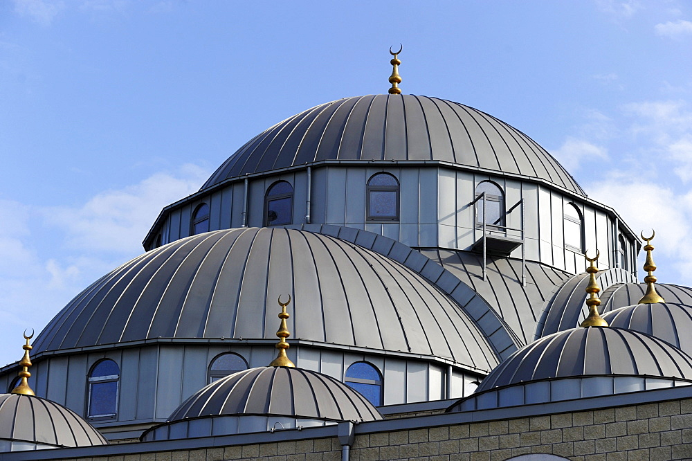 Merkez mosque, Marxloh district, Duisburg, North Rhine-Westphalia, Germany, Europe