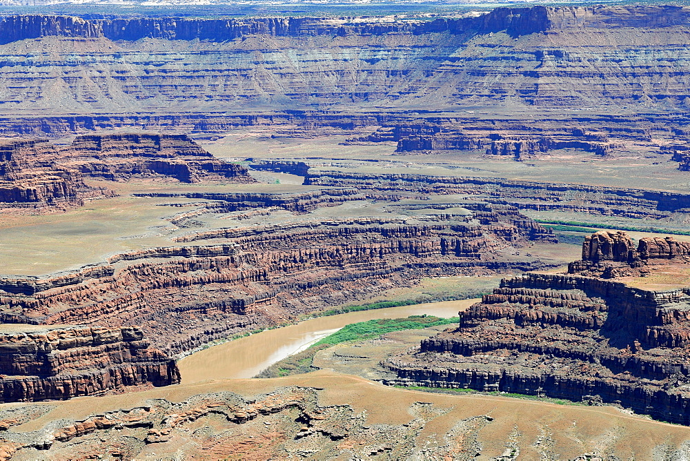 River bend, Gooseneck, Canyon, Colorado River, Dead Horse Point State Park, Utah, USA, America