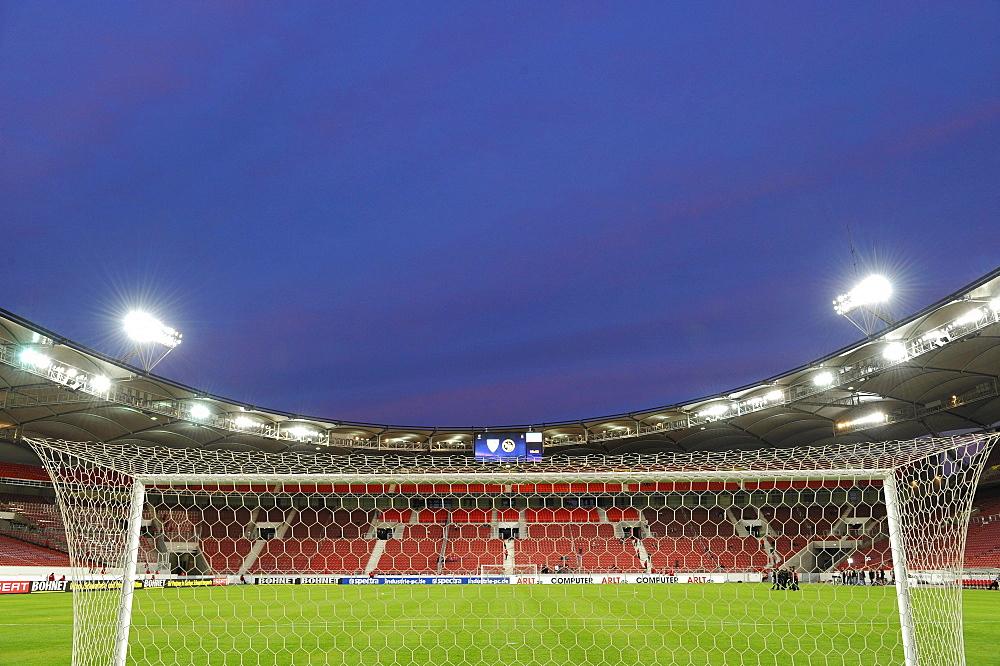 2010 completed Untertuerkheimer fan block of VfB Stuttgart at the Mercedes-Benz Arena, Stuttgart, Baden-Wuerttemberg, Germany, Europe