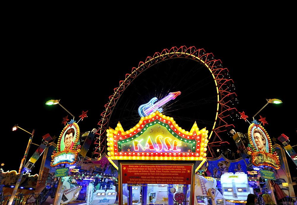 Pay window for carousel rides, Ferris wheel, Cannstatter Wasen or Volksfest, Stuttgart Beer Festival, Wasen, Bad Cannstadt, Stuttgart, Baden-Wuerttemberg, Germany, Europe