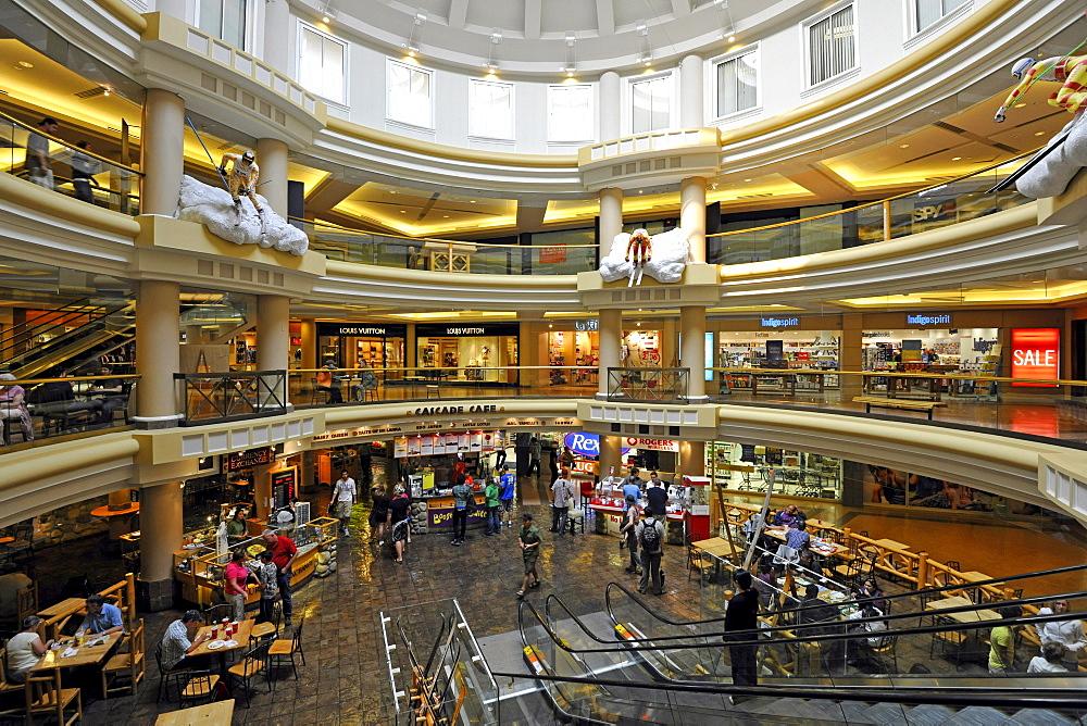 Interior, Cascade Plaza mall, Banff Avenue, Banff National Park, Canadian Rocky Mountains, Alberta, Canada