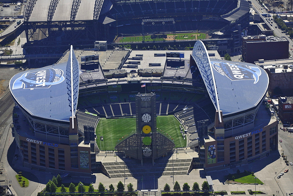 Looking south, Seahawk Stadium, Qwest Field, Seattle, Washington, United States of America, USA