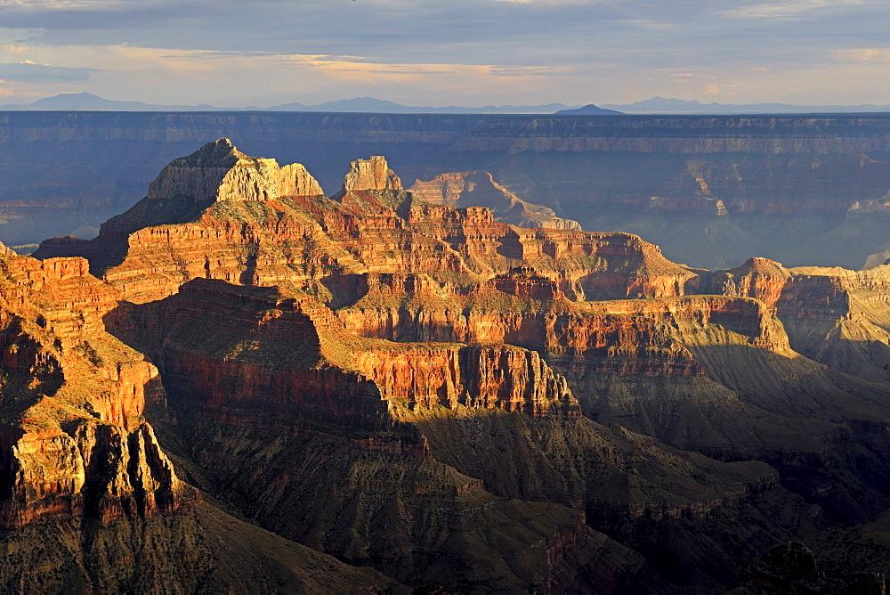 Evening mood, Grand Canyon North Rim, Bright Angel Point, Arizona, USA, America