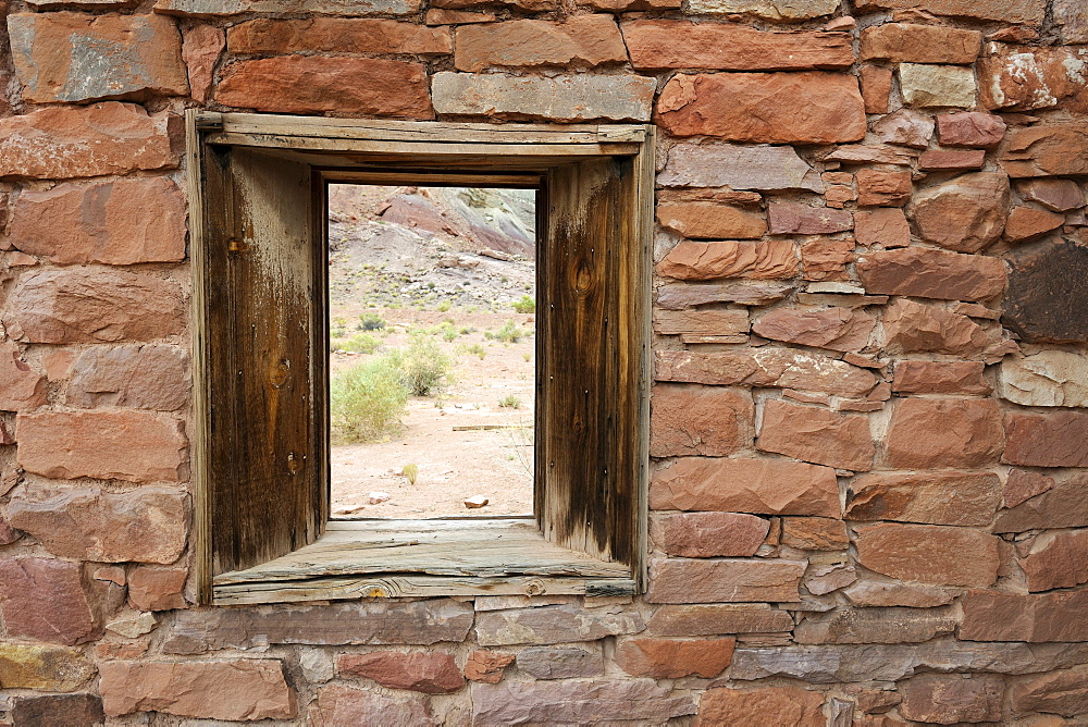 Lee's Fort, built in 1880, detailed view, Lee's Ferry, Arizona, USA