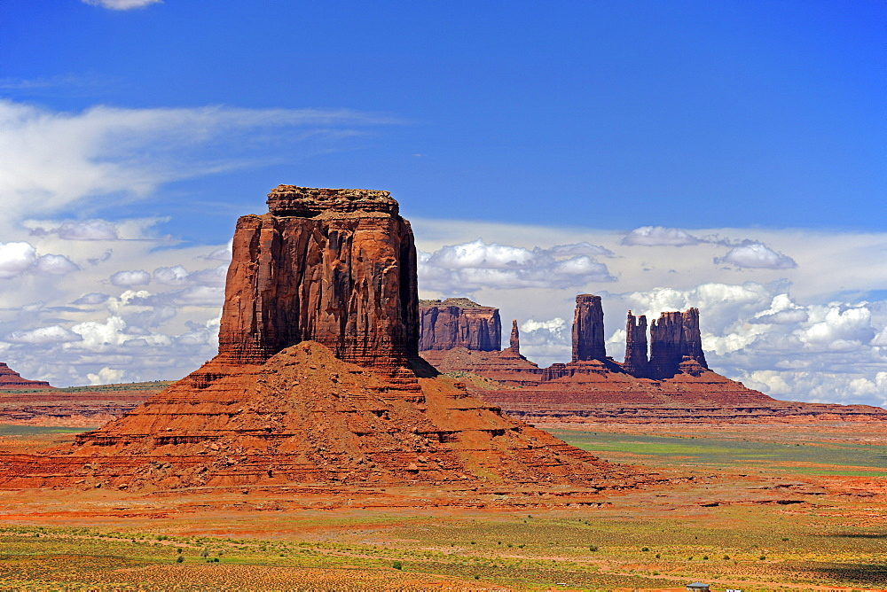 Looking through the North Window at the Buttes in Monument Valley, Arizona, USA, America, America