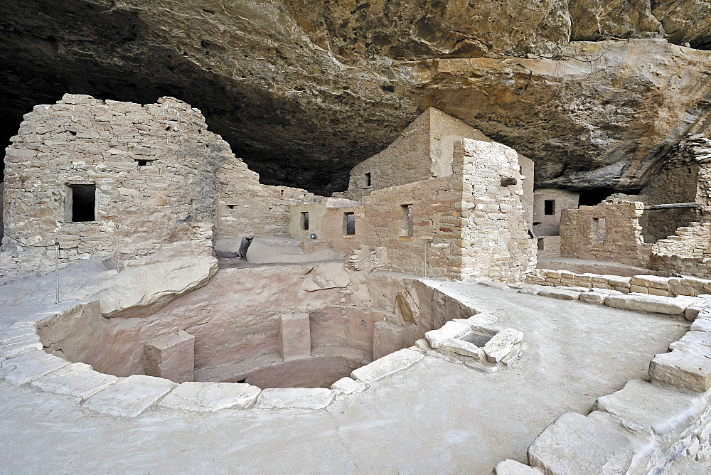 Spruce Tree House, a cliff dwelling of the Native American Indians, about 800 years old, Mesa Verde National Park, UNESCO World Heritage Site, Colorado, USA, North America