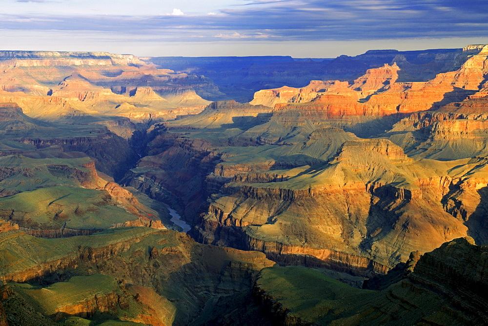 Morning at Lipan Point, Colorado River, Grand Canyon South Rim, Arizona, United States, America