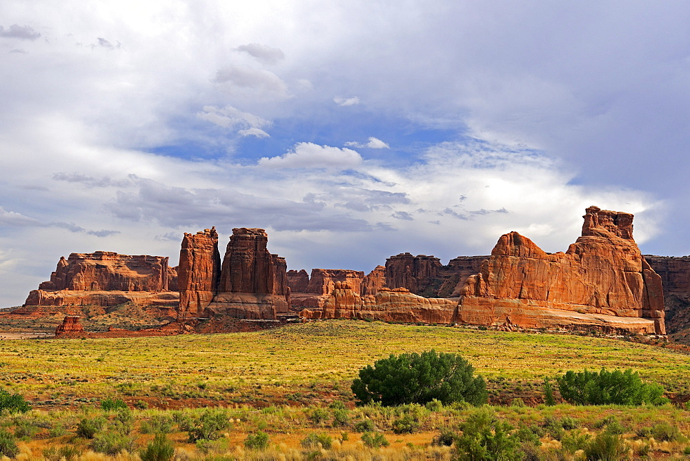 """Courthouse Towers"" in the evening light, Arches National Park, Utah, USA"
