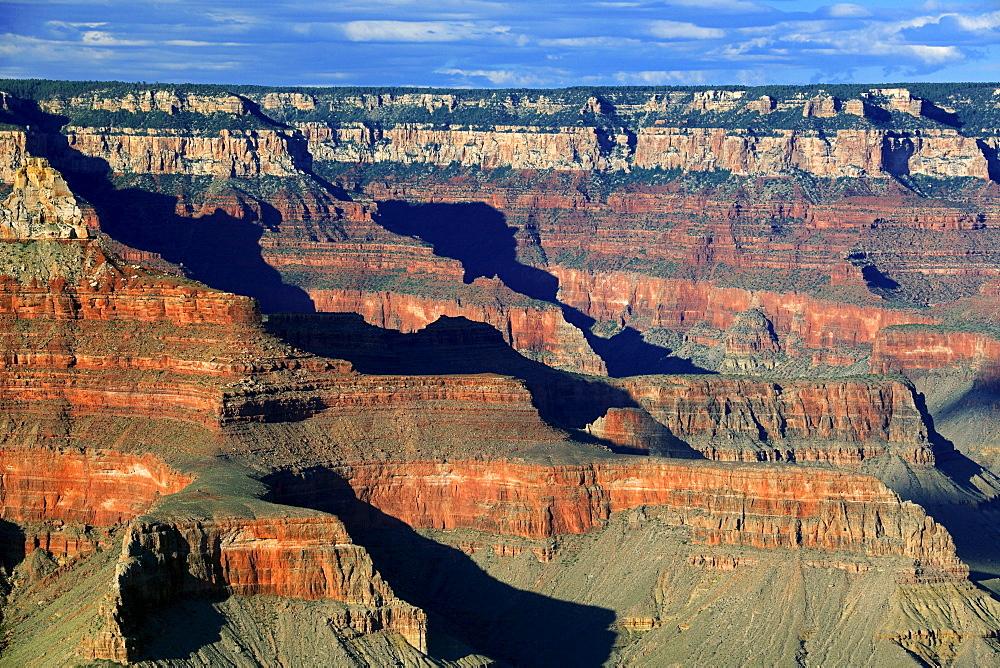 Evening at Yavapai Point, Grand Canyon South Rim, South Rim, Arizona, USA, America
