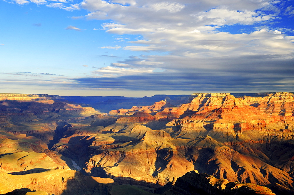Morning at Lipan Point, Colorado River, Grand Canyon South Rim, South Rim, Arizona, USA, America