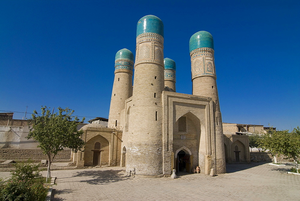 Char Minar Medressa, Bukhara, Uzbekistan, Central Asia