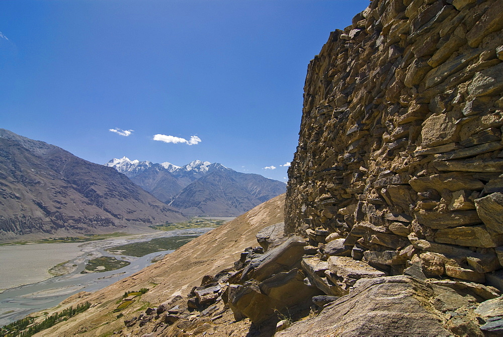 Old castle in the mountains, Langar, Wakhan Corridor, Tajikistan, Central Asia