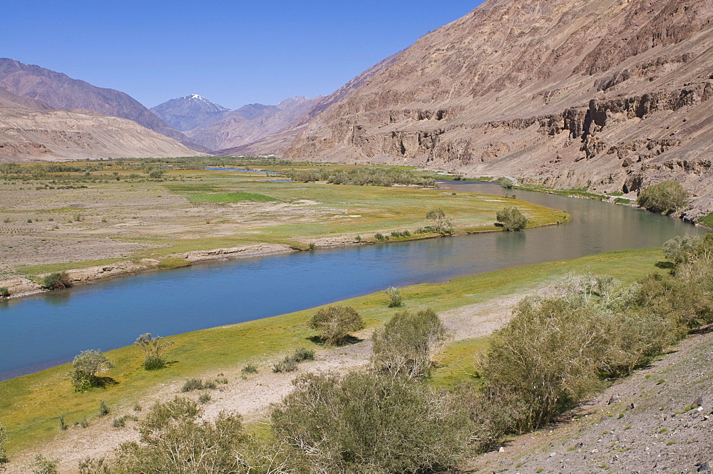 River flowing through the Madyian Valley, Pamir Mountains, Tajikistan, Central Asia