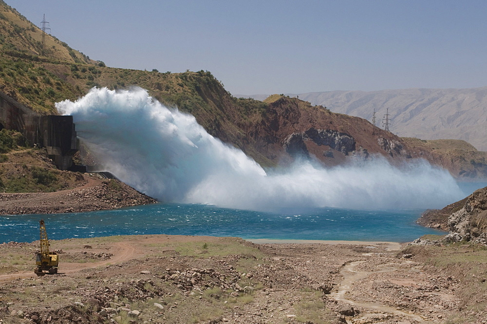 Dam of Nurek, Tajikistan, Central Asia