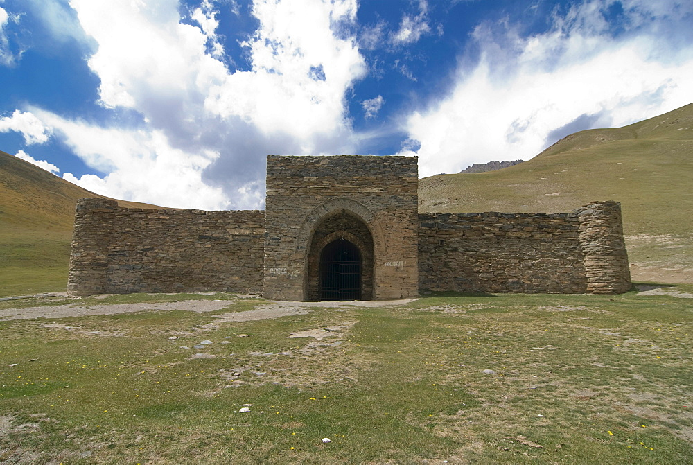 Caravanserai, stone house, Tash Rabat, Kyrgyzstan, Central Asia
