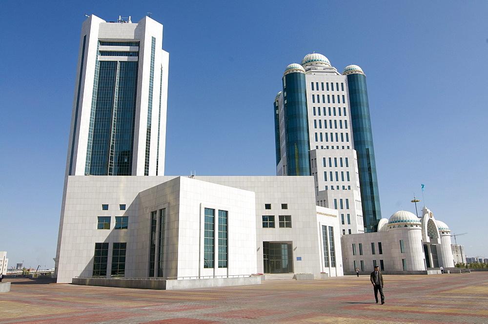 Modern architecture at the Bayterek Tower, Astana, Kazakhstan, Central Asia