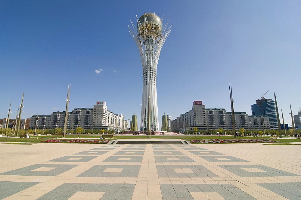 Bayterek Tower, landmark of Astana, Kazakhstan, Central Asia