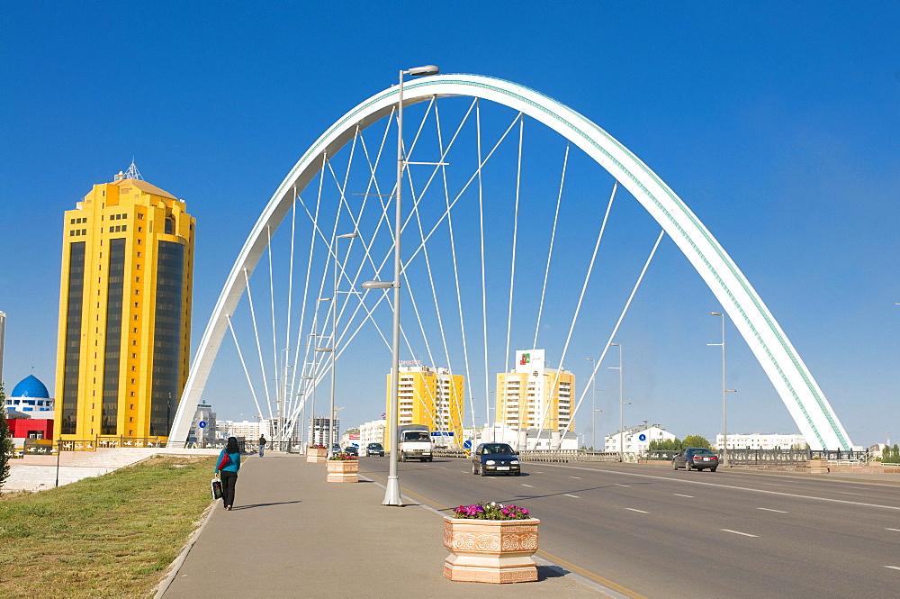 Modern bridge, Astana, Kazakhstan, Central Asia